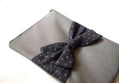 iPad case iPad sleeve iPad cover Grey Polka dot Bow by byMART, $25.99
