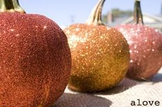 Get Your Glitter On-Pumpkins!!!