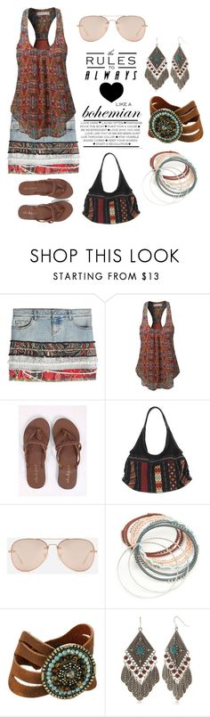 """""""Boho Rules"""" by ningaunis ❤ liked on Polyvore featuring Faith Connexion, LE3NO, Altar'd State, NOVICA, CHARLES & KEITH, Red Camel, Leatherock, boho and contestentry"""