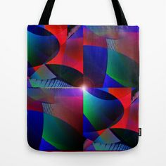 Qbist serie digit collage # 35 Tote Bag by Mittelbach Marenco Florencia - $22.00