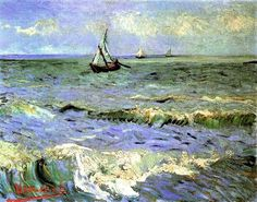 Vincent van Gogh, Seascape at Saintes-Maries,1888 Oil Painting Techniques For Beginners