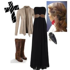 Another pretty fall maxi look - with my boots!