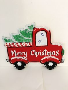 Little Red Truck Wreath Sign, Christmas Truck sign, Merry Christmas wreath sign by ShelbysDesignStudio on Etsy Christmas Red Truck, Christmas Gingerbread Men, Christmas Signs Wood, Christmas Train, Easter Wreaths, Christmas Wreaths, Christmas Decorations, Merry Christmas, Candy Corn Wreath
