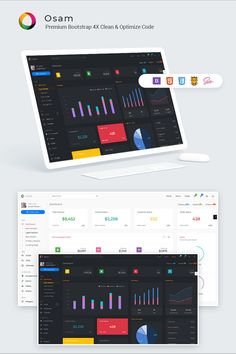 Osam - Multipurpose Clean & Modern Admin Template. Osam is a popular Premium WebApp template for admin dashboards and admin panels./p It's responsive HTML template, which is based on the Bootstrap 4X framework. It utilizes all of the Bootstrap components in design and re-styles many commonly used plugins to create a consistent design that can be used as a user interface for backend applications. MAIN FEATURES: Bootstrap 4x Latest jquery v3.3.1 Built in SCSS Fully Responsive & Interactive