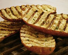 Grilled Garlic Bread...this is delicious!!  Grilled Bread....yummmmmm