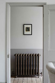 A decrepid but charming Victorian Terrace. Gently revived and refined, enhancing period features and the fine craftmanship of the era. It made for a calm and welcoming home, with natural flow and creative energy. Hallway Inspiration, Interior Inspiration, Colour Inspiration, Hallway Ideas, Estilo Interior, Interior Styling, Victorian Radiators, Victorian Hallway, 1930s Hallway