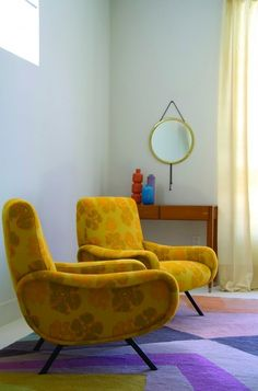 chairs ~ shape, pattern, colour