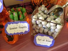 More of the candy station for my twins' 7th Nightmare Before Christmas birthday party