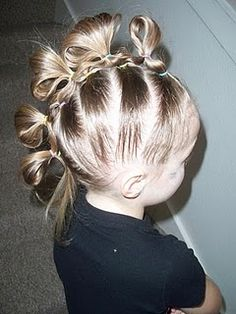 Dr. Seuss Who Ville Hair SIX pony tails down the middle - So CUTE!