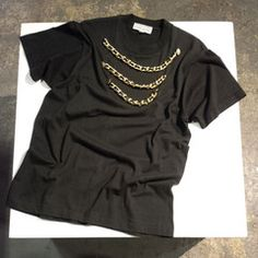 People Vintage // Gold Chain Tee Black // 34.95 + shipping