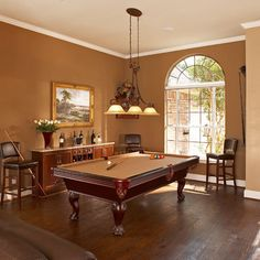 Fun to convert your dining room into a billard room.