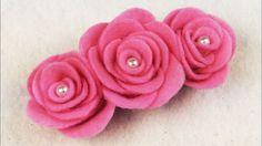 EASY DIY: How To Make Felt Roses NO SEW I DIY DECEMBER EP. 6 I DIY Felt ...