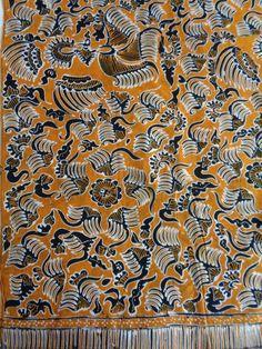 FINE INDONESIAN HAND WAXED BATIK PHOENIX TYPE BIRDS FLORAL 100% COTTON 04f324ea72