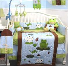 Think Frog Decor for a Cute Baby Nursery! my mom would diiiieee if i did this
