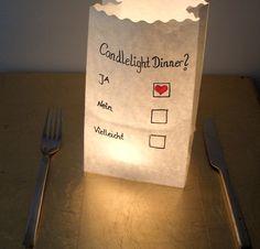 Candlelight Dinner? nicht nur zum Valentinstag auch für zwischen durch, eine witzig-romantische Einladung zum Essen. oder wenn es einfach ma...