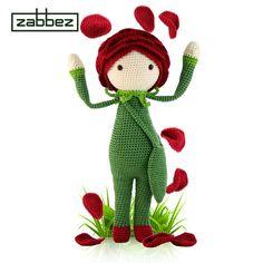 Crochet pattern amigurumi doll Rose Roxy PDF van Zabbez op Etsy