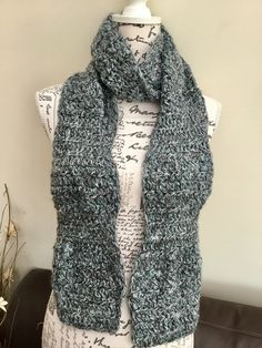 f3032699bc1 Wave Scarf! Stylish Crocheted Scarf in double and triple crocheted styles!  £14.00. Folksy