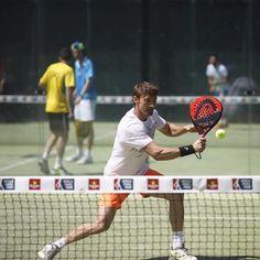 Ya en marcha la fase pre previa del Estrella Damm Las Rozas Open! En la imagen el ex-número 1 de la ATP Juan Carlos Ferrero durante su partido.f