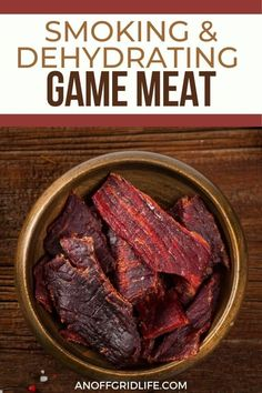 Smoking and dehydrating your game meat is a great way to preserve your meat without refrigeration. Use these tips to learn how to preserve your game meat using dehydration and smoking methods. #smokedmeat #jerky #homesteadkitchen Making Jerky, New Oven, Jerky Recipes, Wild Game Recipes, Usda Food, Smoking Recipes, Dehydrated Food, Dehydrator Recipes, Survival Food