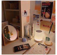 Room Design Bedroom, Room Ideas Bedroom, Bedroom Decor, Study Room Decor, Cute Room Decor, Desk Inspo, Kawaii Room, Minimalist Room, Room Goals
