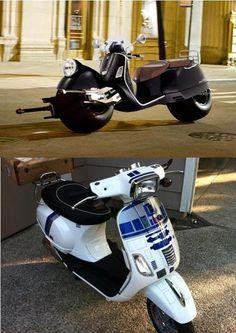 Batman & R2-D2 scooters