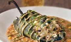 Fire-Roasted Chile Relleno:Spicy poblano stuffed with chicken, cheese ...