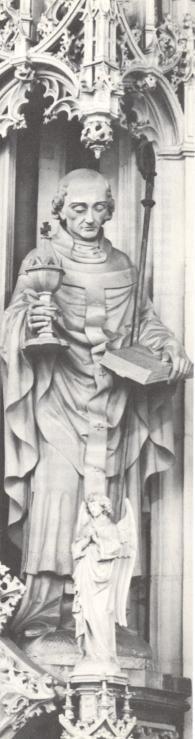 St. Alfonsius de 'Liguori.. 1883. Beeldhouwwerk door J.Graven. Nederland, Den Bosch, St-Janskathedraal.