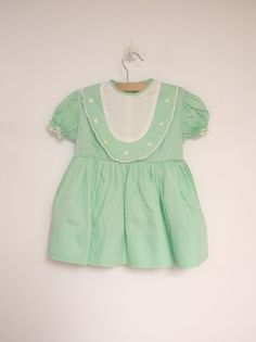 1950's Mint Green and White Floral Dress by BabyTweeds on Etsy, $45.00