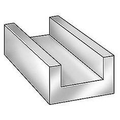 GRAINGER APPROVED Aluminum U-Channel,AL 6063,0.062 Th,1/2 In x 8 ft, 6ALZ2 #GRAINGERAPPROVED