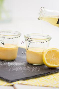 Cheesecake Zitronen im Glas Kuchen backen Rezept
