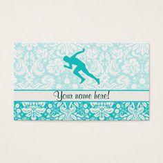Teal Running Business Card