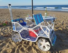 2016 Sport Wagon. Perfect addition for any beach house or lake house. Raise the table, drop the tailgate and put in the seat back. This cart will help you make the most of your day. www.sport-creations.com