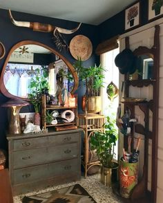 Like the warm earthy feel, but not the clutter feel. Like the warm earthy feel, but not the clutter feel. Casa Hipster, Asian Interior Design, Asian Design, Sweet Home, Deco Retro, Bohemian Decor, Dark Bohemian, Bohemian Interior, Bohemian Living