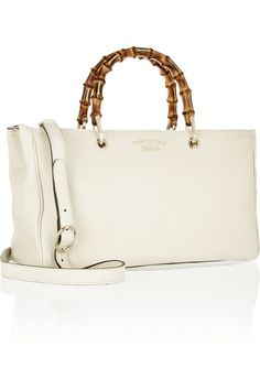 Gucci|Bamboo Shopper small textured-leather tote