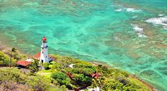 The Diamond Head Lighthouse in Waikiki on the island of Honolulu, Hawaii.