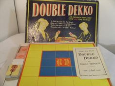 board games from the 1950's | 1950's double dekko board game ( complete)