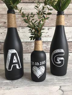 Vasen - Chalk Set - ein Designerstück von BottleAndBox bei DaWanda