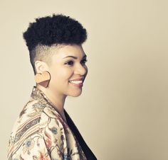 shaved sides natural hair - Google Search                                                                                                                                                      More