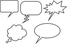 Globos para diálogos tipo comic para imprimir gratis