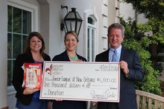 Junior League of New Orleans - Diaper Bank - Gregory Ricks - Stephanie Campani - Dwell NOLA Realty - Gregory Ricks & Associates - Ruth's Chris - Metairie - Donation - Charity - Giving Back - https://financialplannerinneworleans.com/events/charitable-giving/