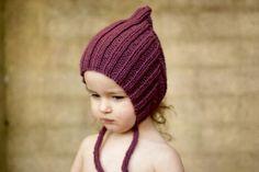 Chubby Pixie hat - Plum