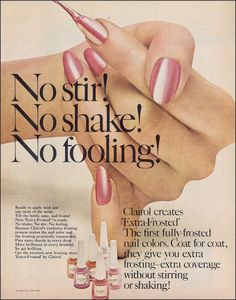 CLAIROL NAIL POLISH Vintage Ad 1966 Retro Nail Polish Ads To Frame