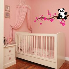 Panda Wall Decal Girls Bedroom Removable Wall by KidoWallDecals