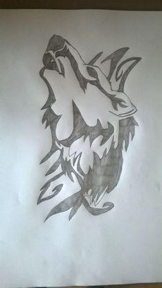 Wilk , Tatuaż , Tribal