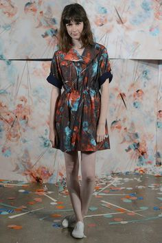 Calla SS13...this reminds me of...Jackson Pollock