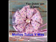 MOñO FLOR DOBLE DE LISTON Paso a Paso DOUBLE LAYER FLOWER Tutorial DIY Step by Step PAP How To - YouTube