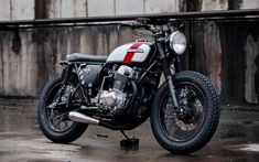 Redeemed Four Cafe racers, scramblers, street trackers, vintage bikes and much more. The best garage for special motorcycles and cafe racers. Honda Cb750, Honda Scrambler, Honda Motorcycles, Scrambler Motorcycle, Cb750 Cafe Racer, Cafe Racers, Bobber Custom, Custom Bikes, Custom Sportster