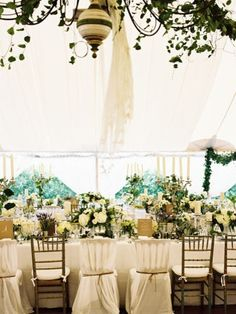 Theme: south of France meets Great Gatsby meets Miss Havishams mansion in Great Expectations Rebecca and Todd, Bridgehampton NY - Martha Stewart Weddings (bride wore Monique Lhuillier Meriah gown)