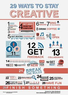 29 Ways to Stay Creative - for anyone!