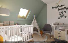 Découvrez le projet complet de cette chambre bébé dans les tons vert d'eau. #chambre #bébé #tipy #vert #déco Spare Room, Scandinavian Style, Baby Room, Cribs, Interior Decorating, Nursery, Bedroom, Projects, Inspiration